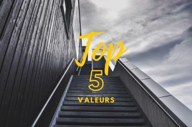 Découvrez votre top 5 des valeurs importante pour vous grâce à votre coach en développement personnel.